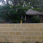 Fencing with Stone Wall Cladding by Ecobuild